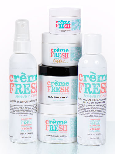 cremeFRESH Natural Skin Care Line